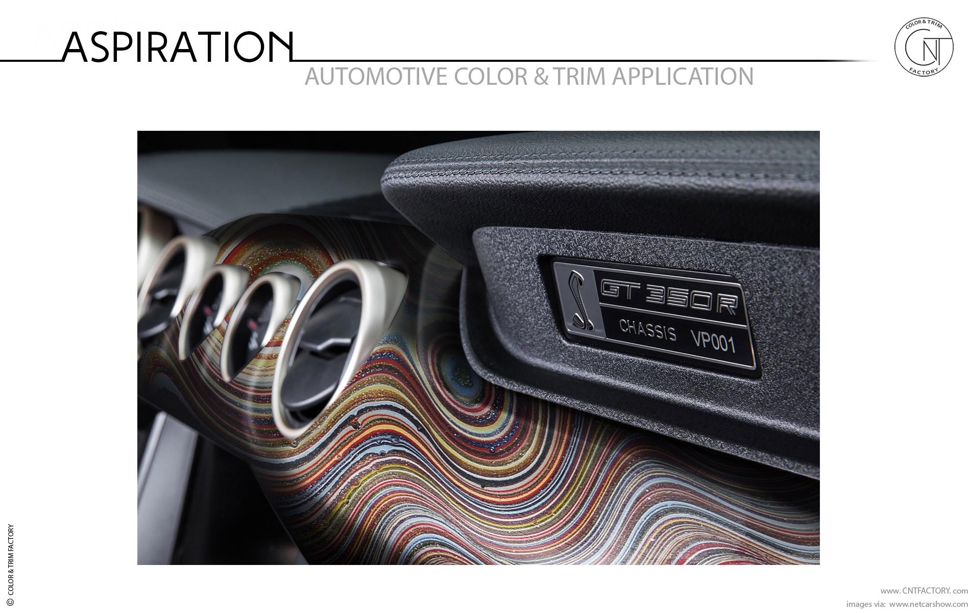 Fordite Detroit agate automotive trim design