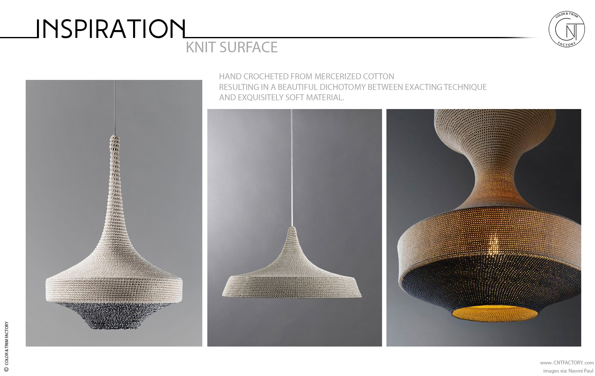 Knit surface material interior automotive color trim design