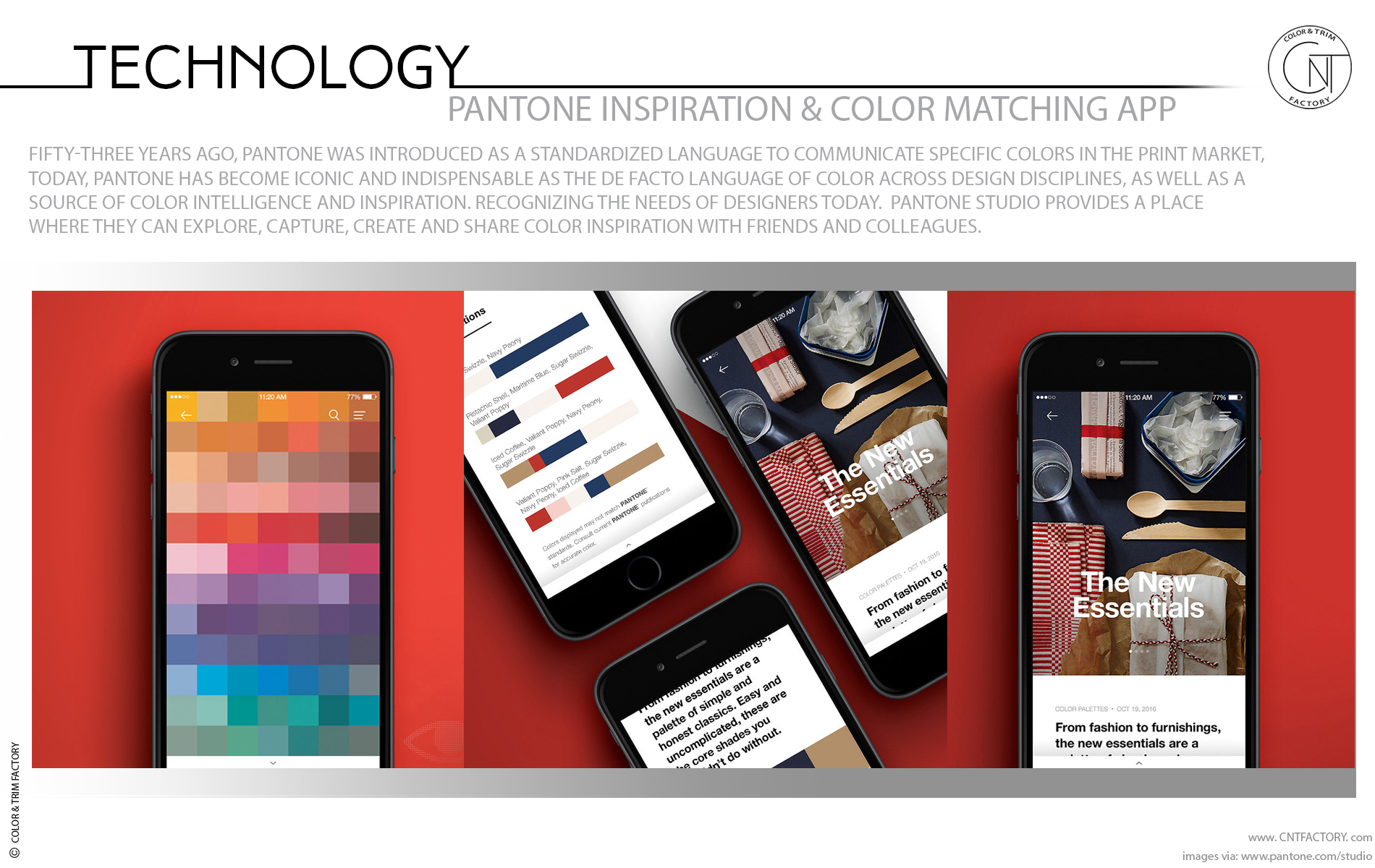 Transform inspiration PANTONE Inspiration Color Matching App