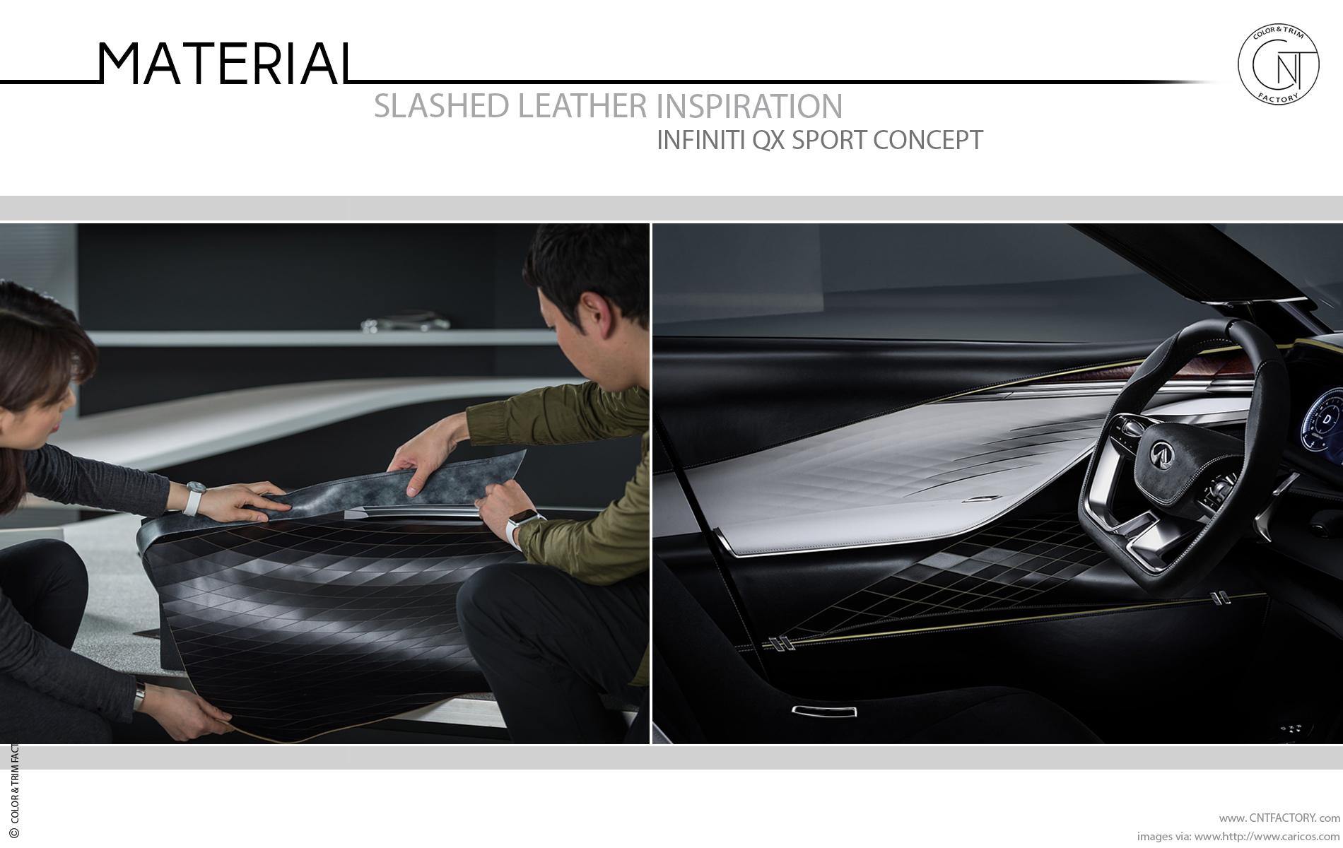 Slashed 3D Leather automotive color trim design