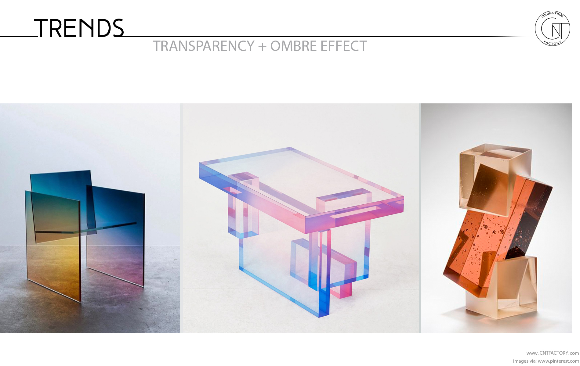 Transparent Ombre Effects