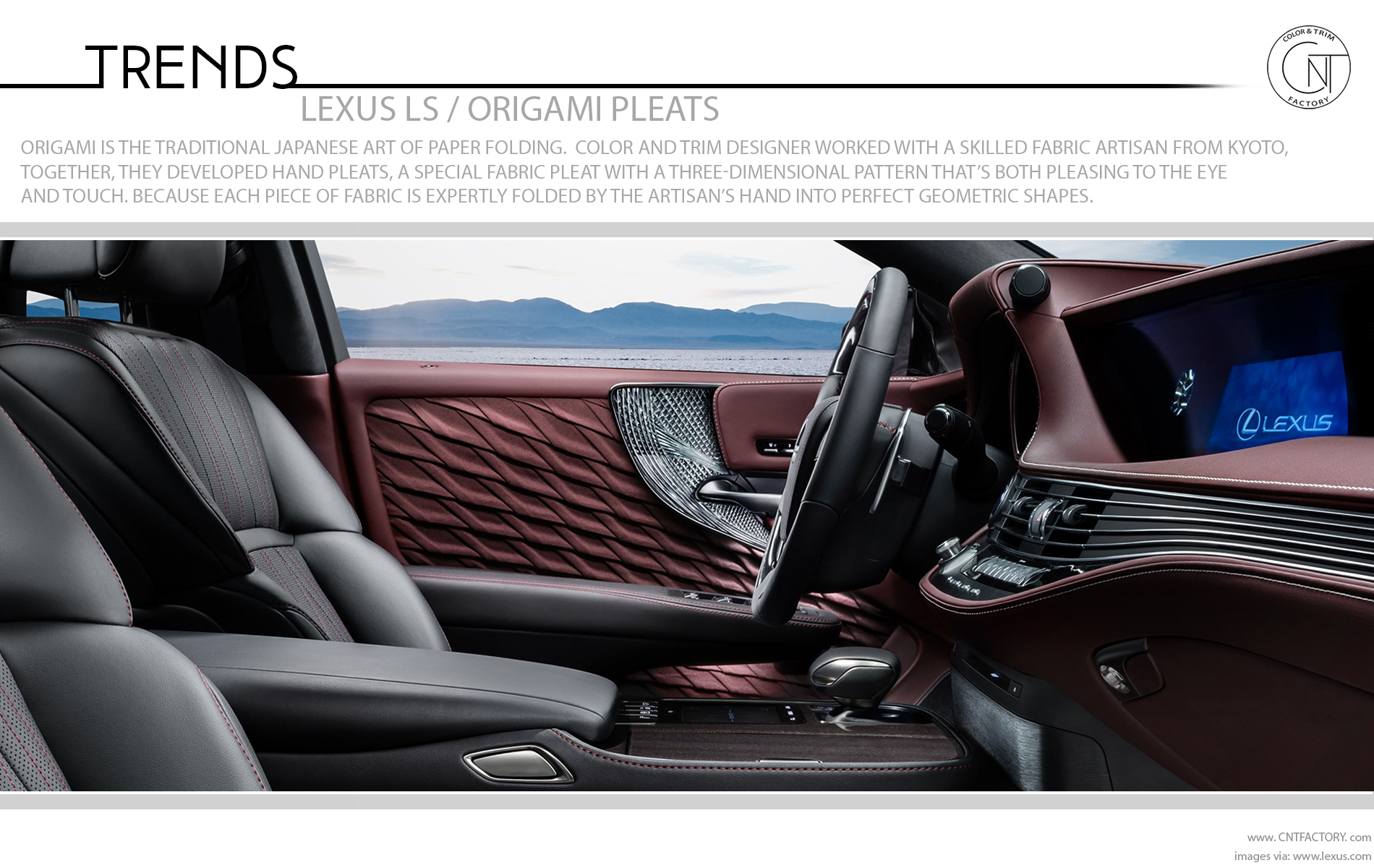 Lexus LS Color Trim Innovations