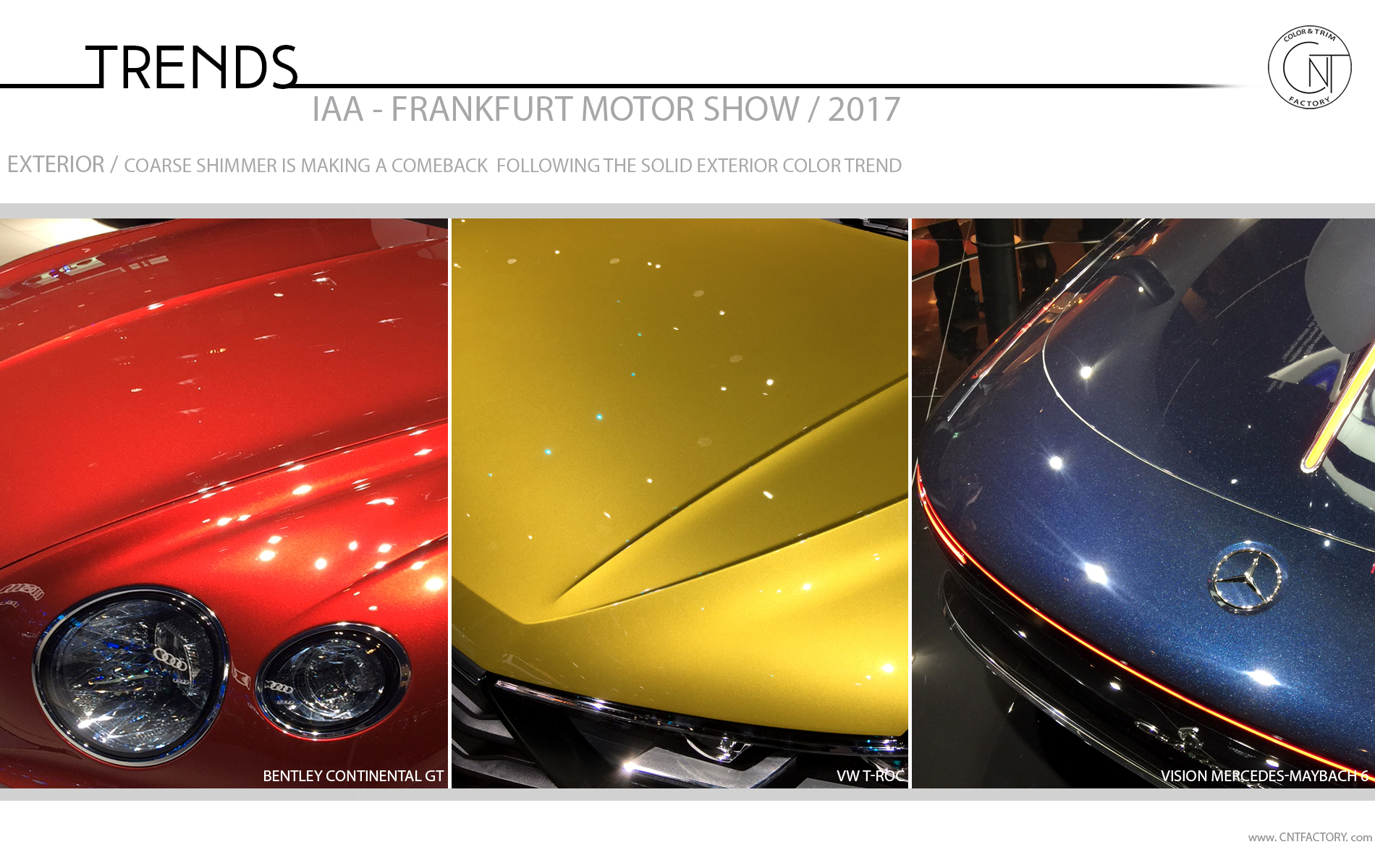 2017 Frankfurt Motor Show Color Trim Trends