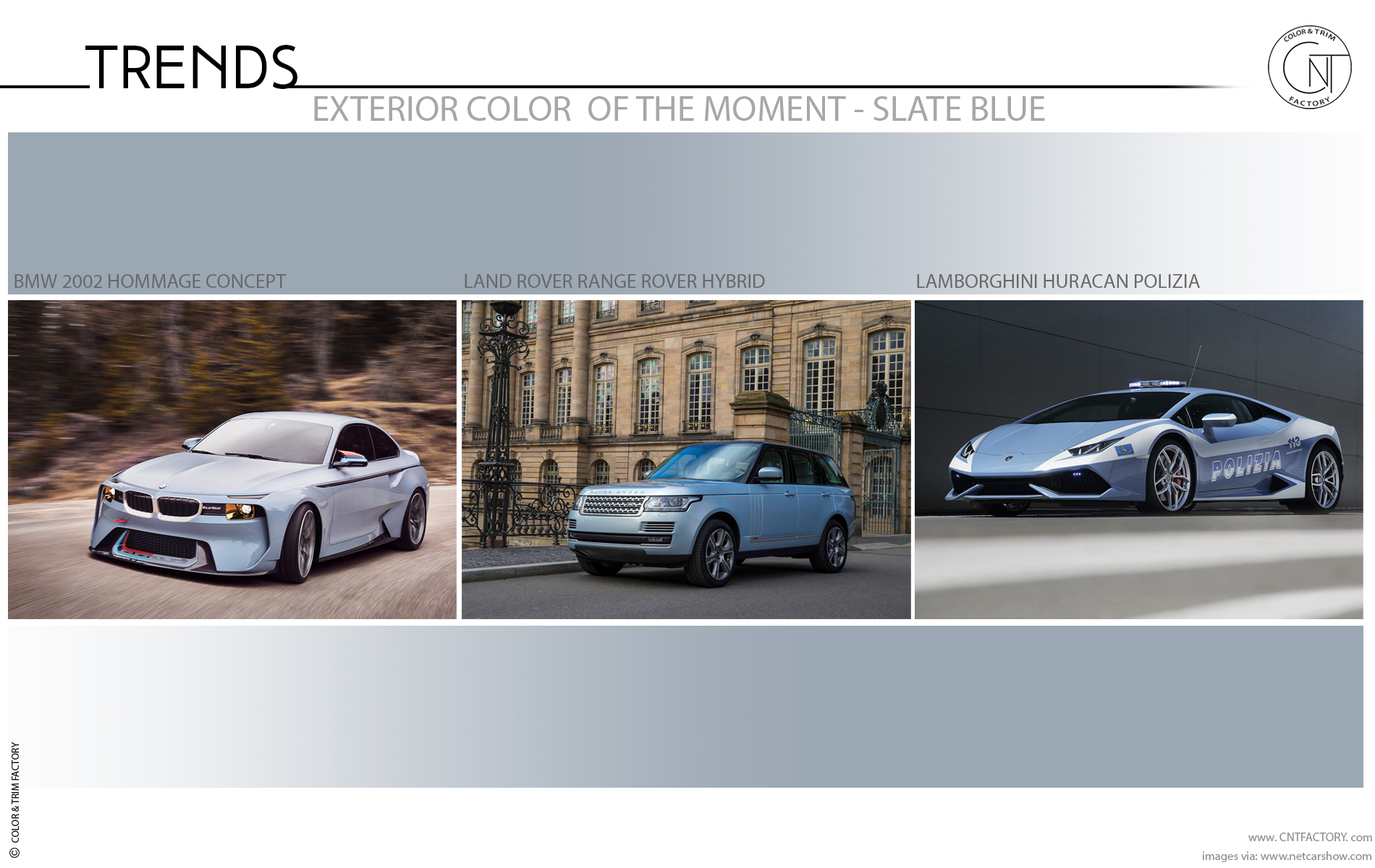 Automotive Exterior color trend moment Slate Blue
