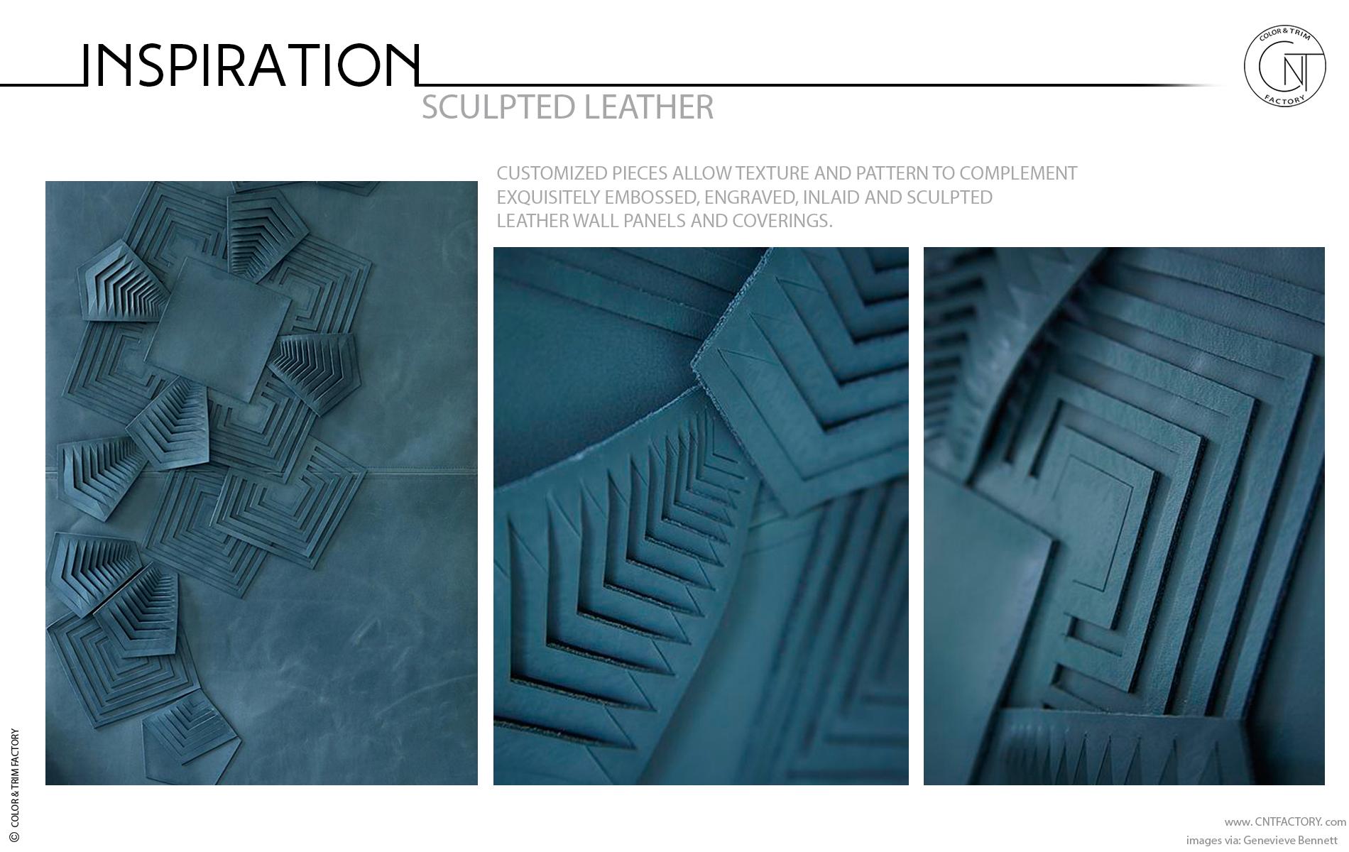3D leather trim surface automotive interior concept design
