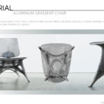 3D Printed Aluminum Gradient Chair