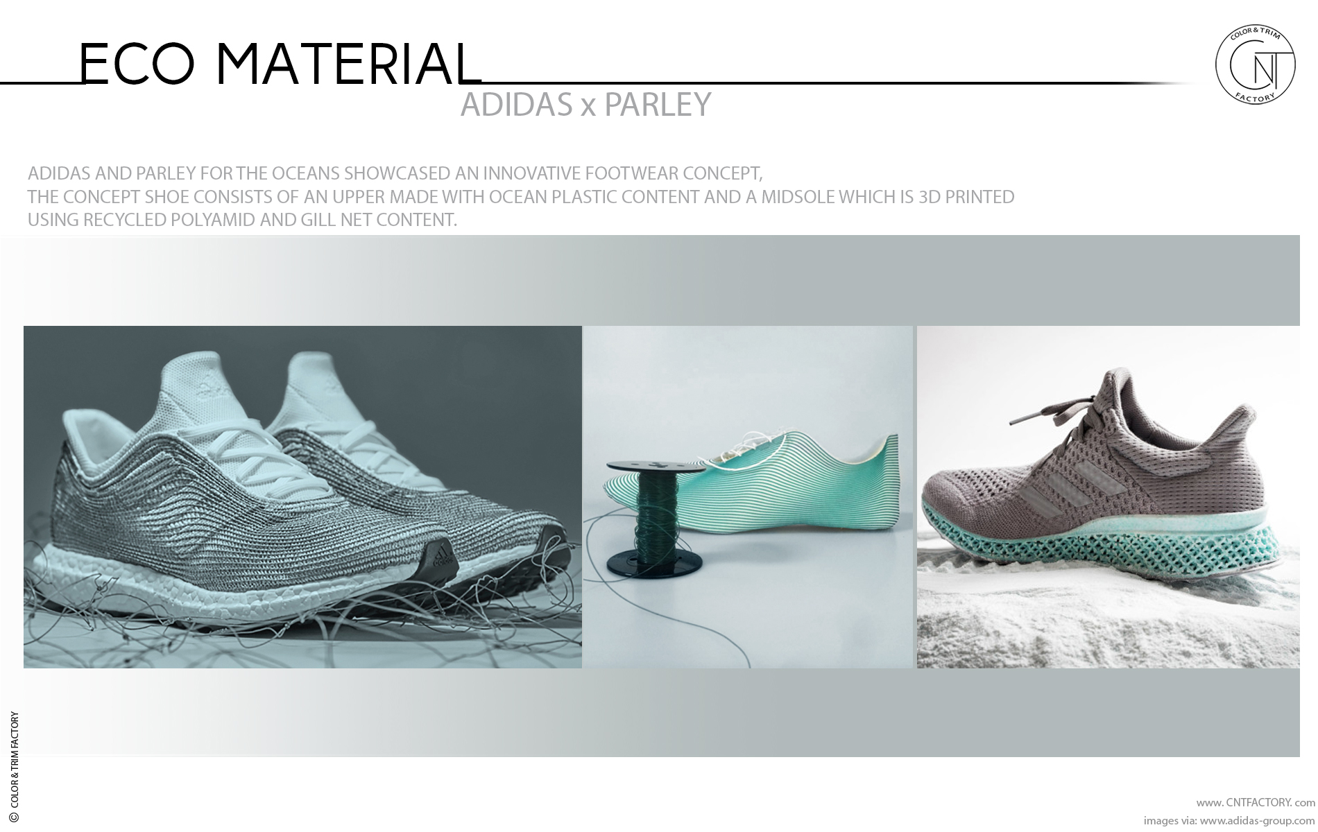 new concept 91063 3b74e Adidas and Parley for the Oceans made with Eco Textile