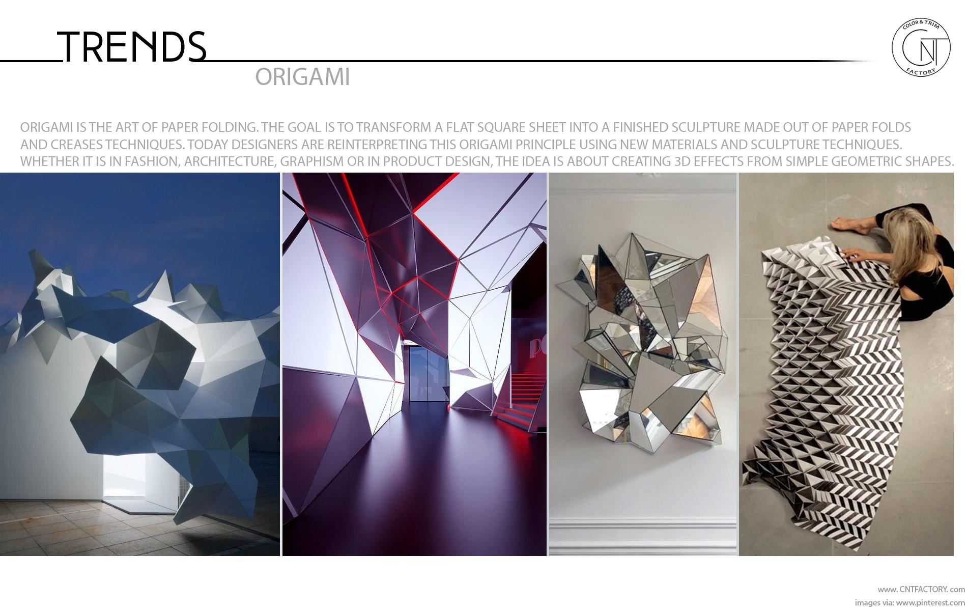 Reinterpreting Origami Folds Techniques