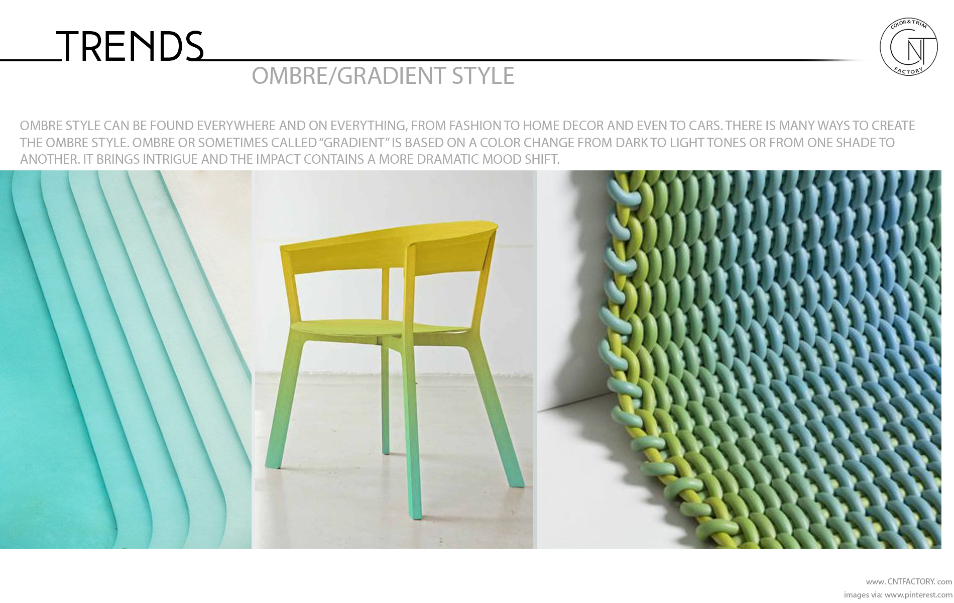 Ombre gradient style trends