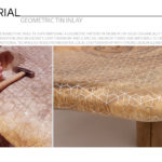 Geometric Pattern Tin Inlay by Nada Debs