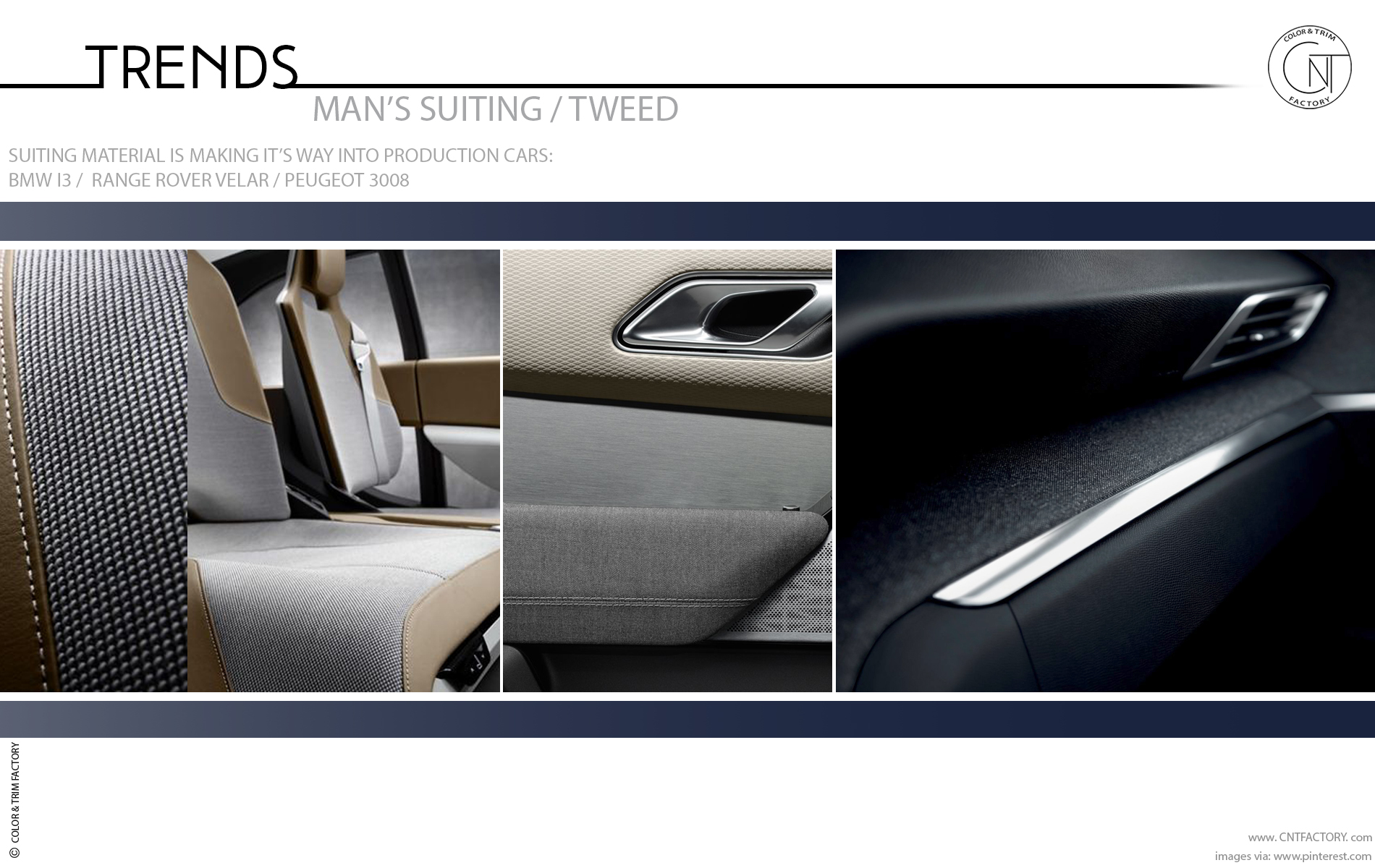 Motor World Car Factory >> Suiting Material Tweed Automotive Design Color Trim