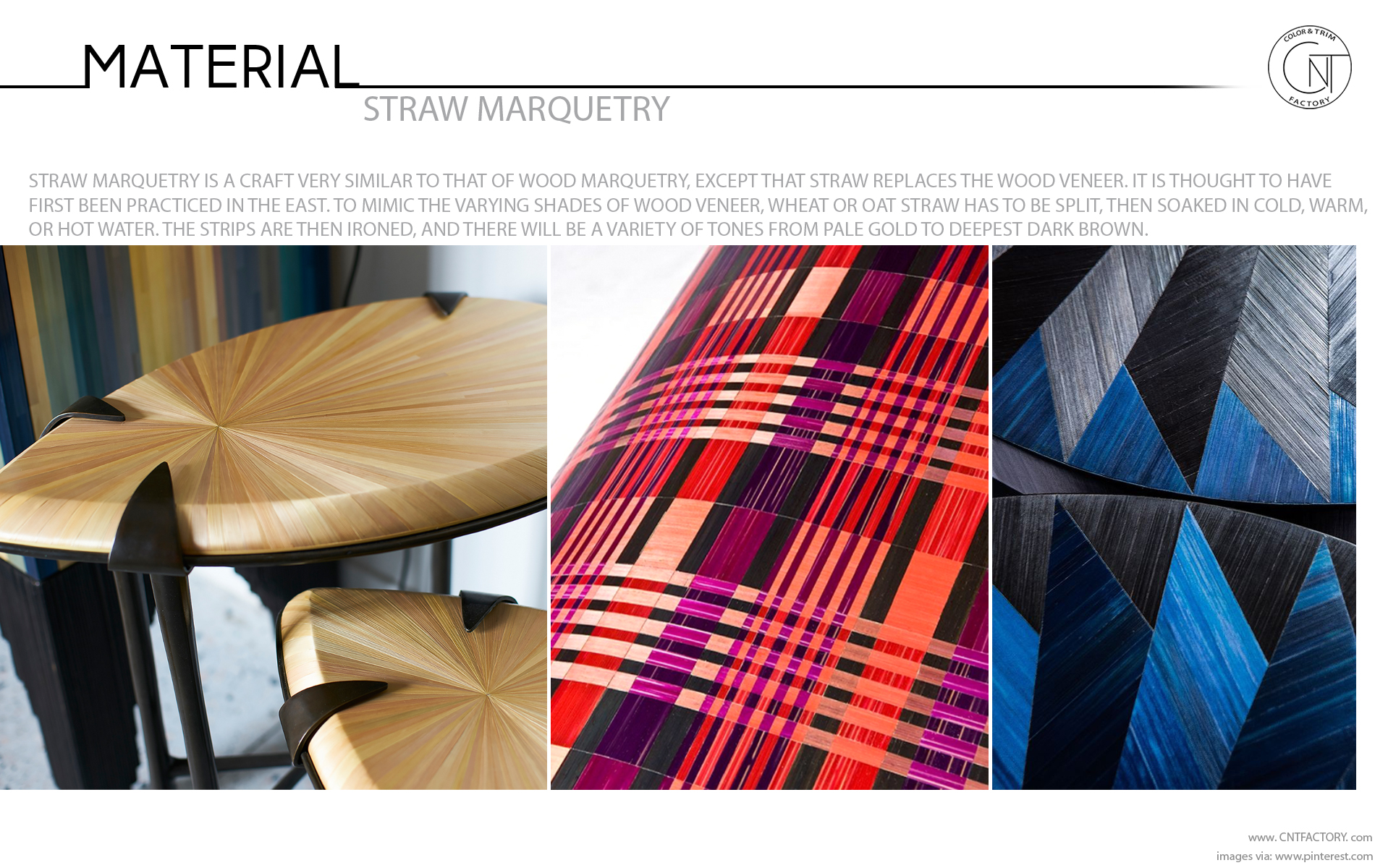 straw marquetry material interior automotive color trim design