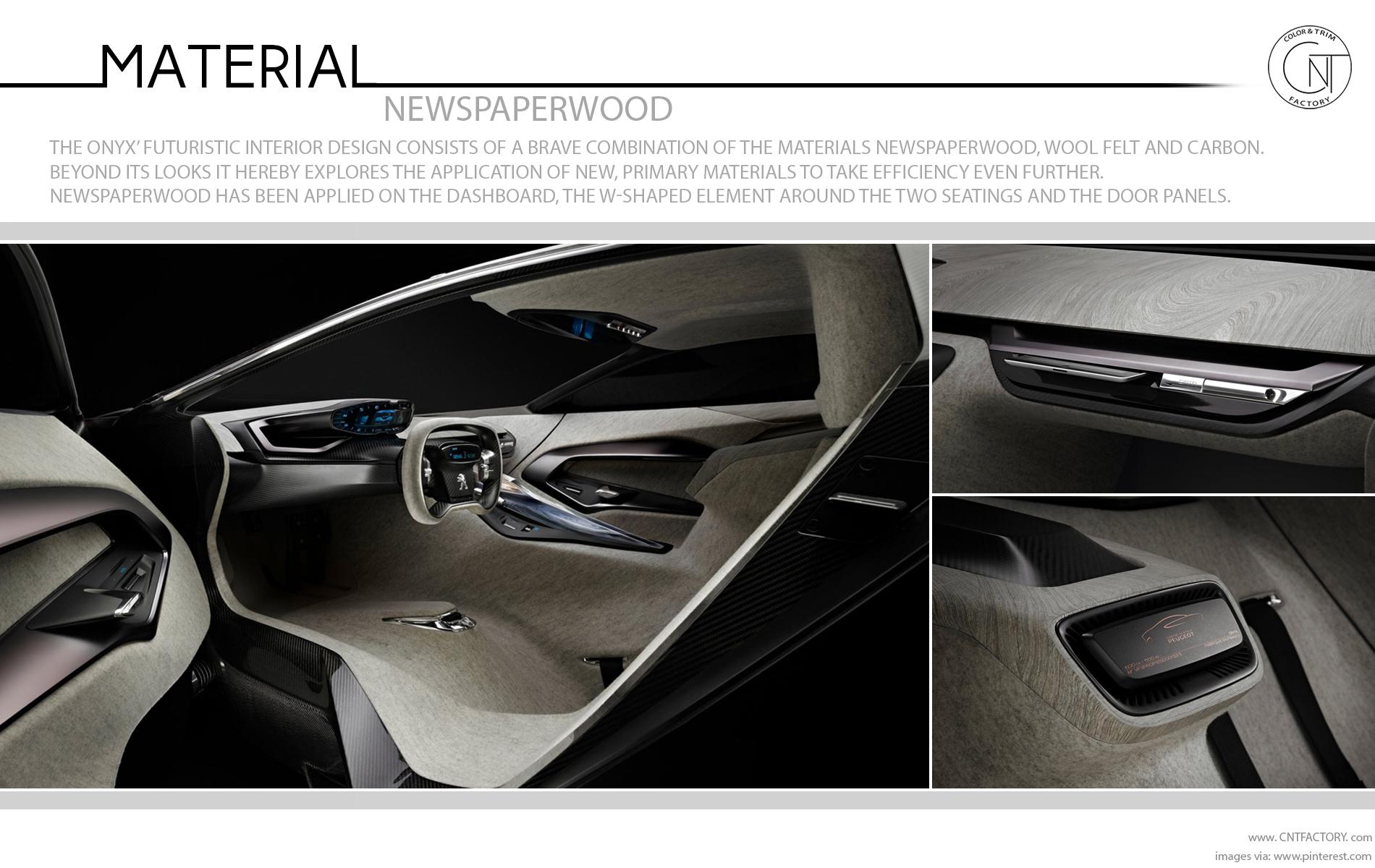 newspaperwood Peugeot Onyx Concept