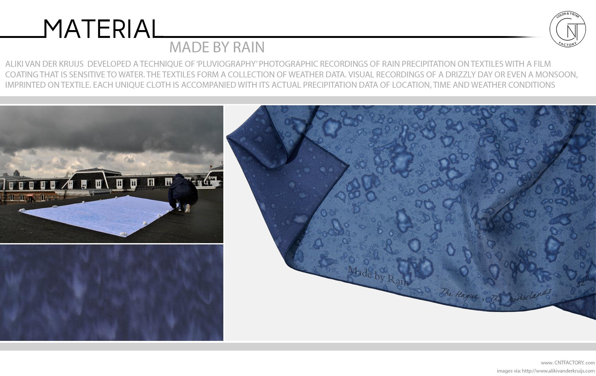 Rain made Photographic Recordings Rain