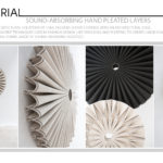 Sound-Absorbing Hand Pleated Layers