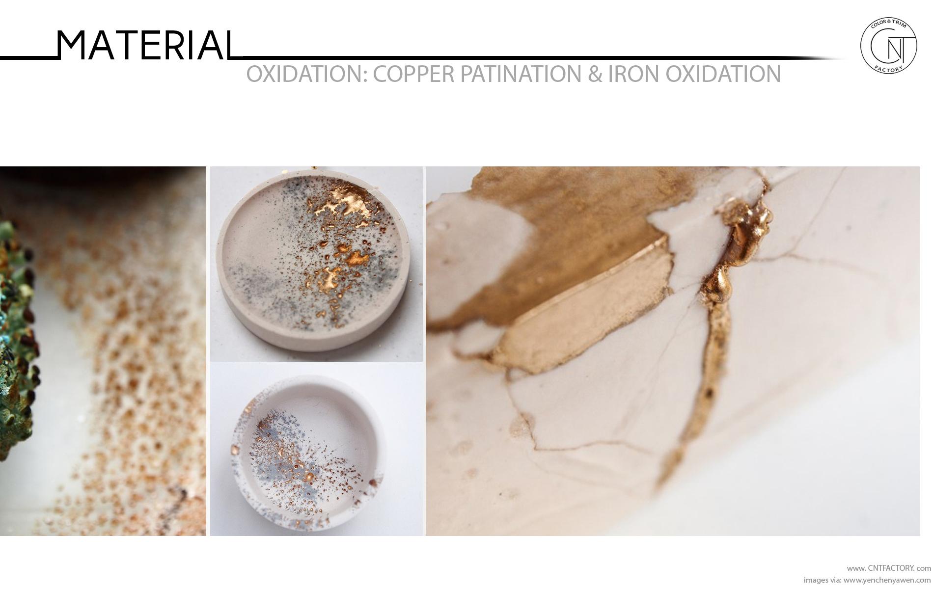 Copper Patination Iron Oxidation automotive color trim