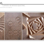Carved 3D Wood Quilting