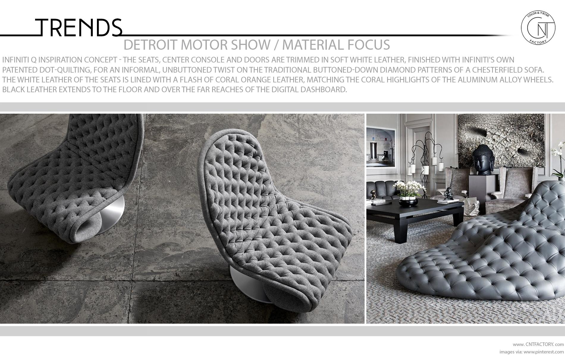 Detroit Motor Show Material Focus Infiniti Q Inspiration Concept