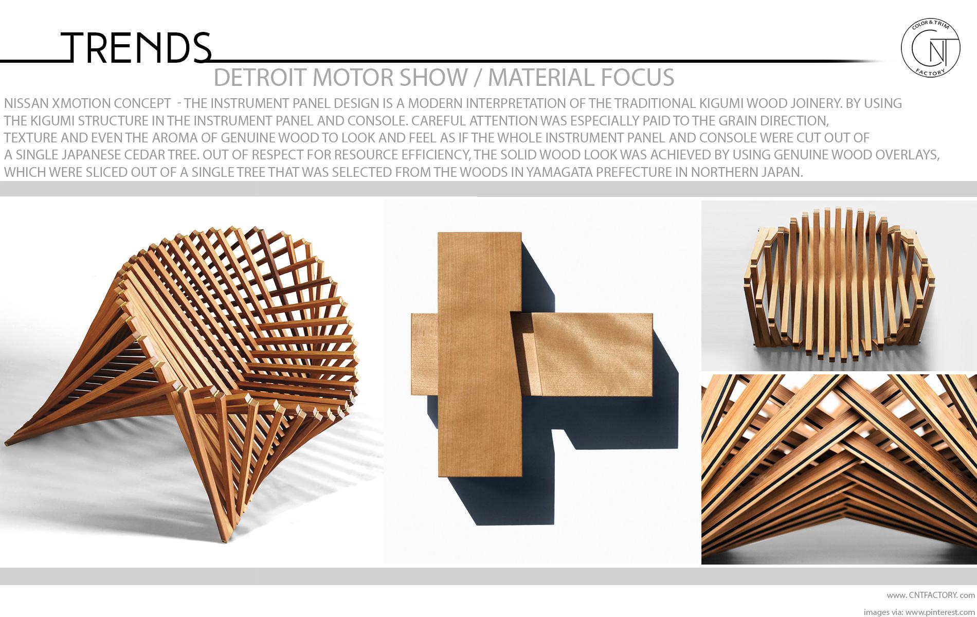Detroit Motor Show Material Focus Nissan Xmotion Concept