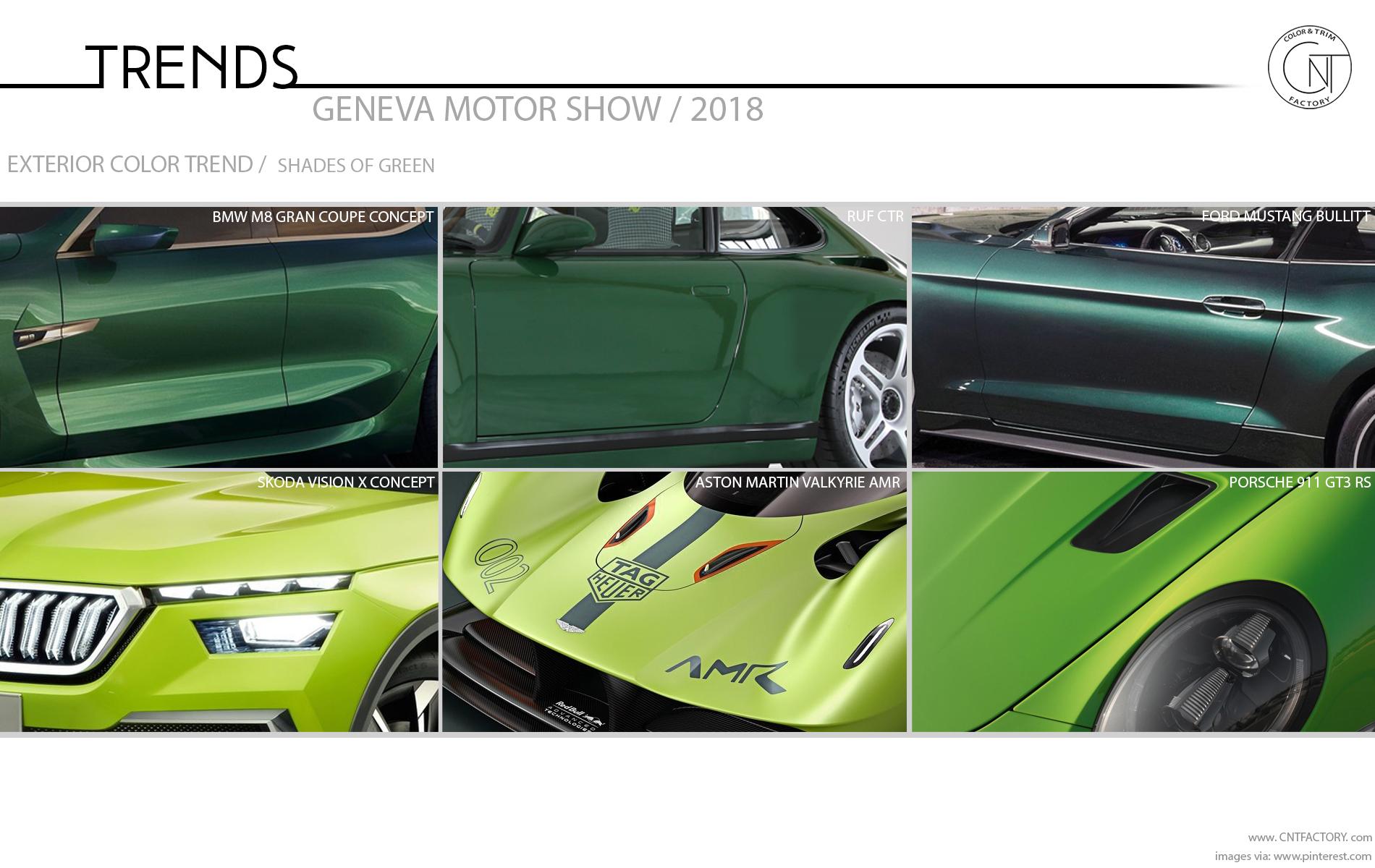 2018 Geneva Motor Show Color And Trim Trends
