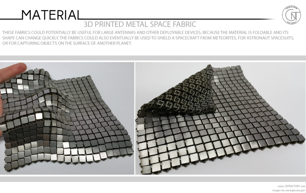 3D Printed Metal Space Fabric