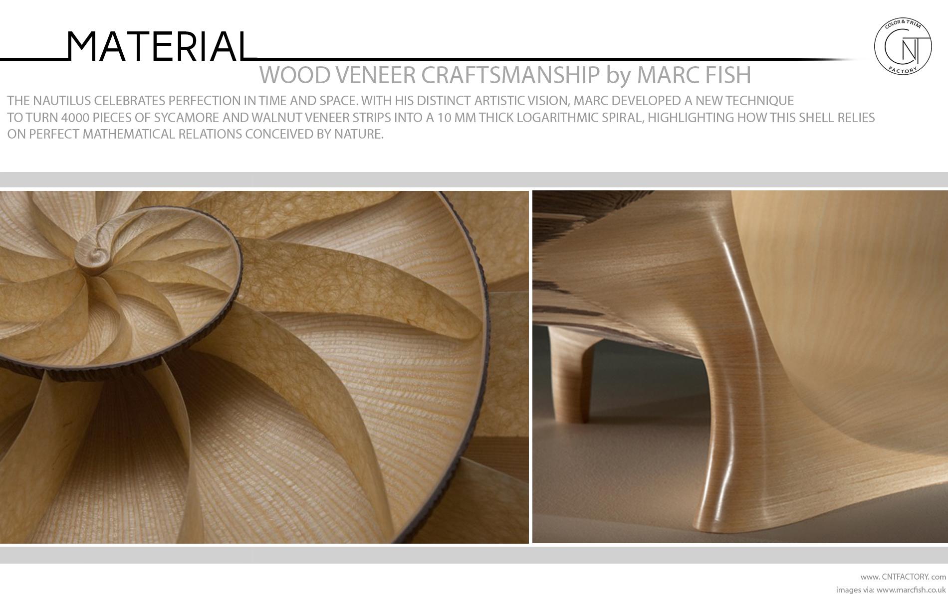 Wood Veneer Craftsmanship Marc Fish Automotive Color Trim Design