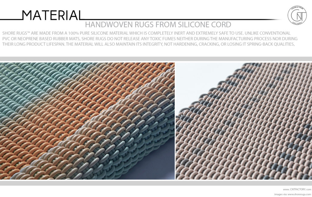 Handwoven rugs silicone cord