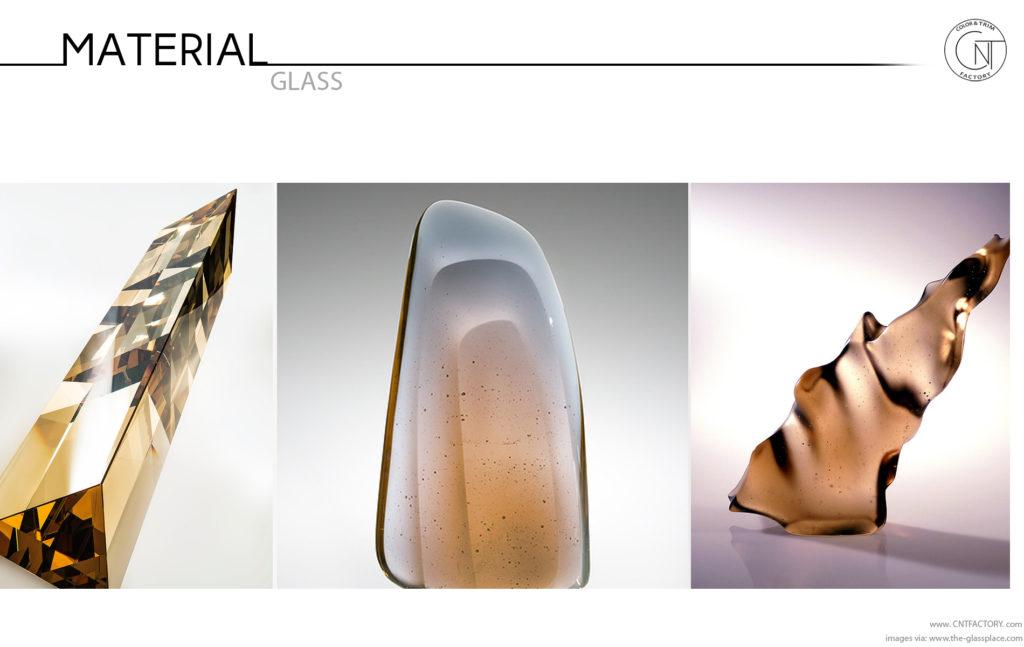 Glass finish automotive trim design