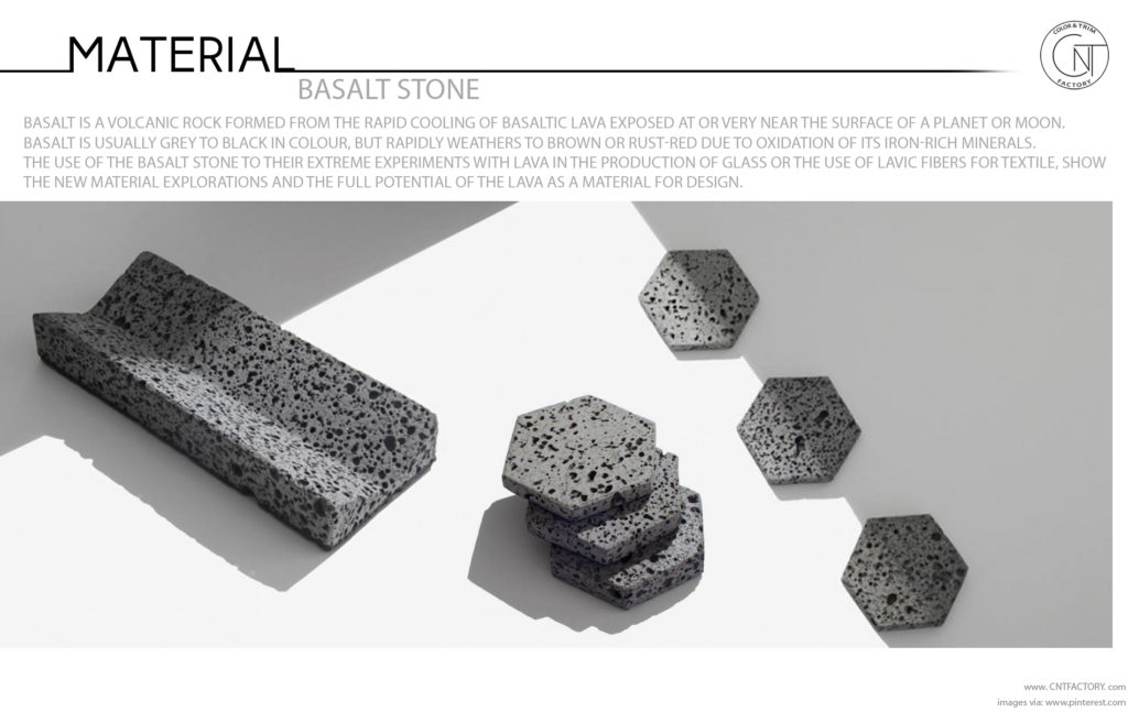 Basalt Stone finish automotive trim design
