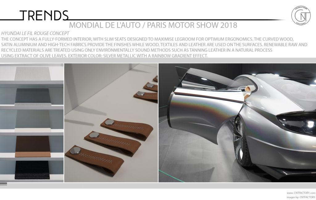 2018 Paris Motor Show Color Trim Trends