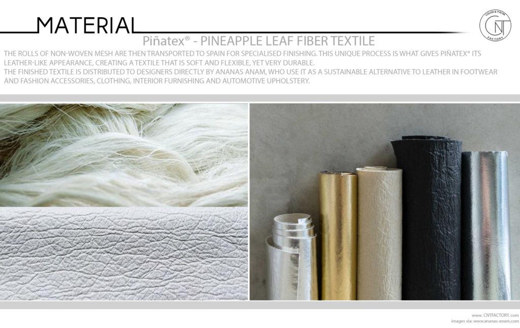 Piñatex Innovative Natural Textile Pineapple Leaf Fibre