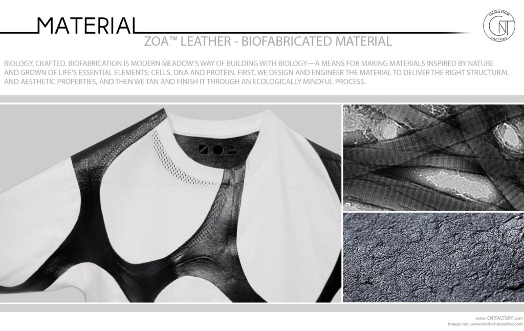 ZOA Leather Biofabricated Material