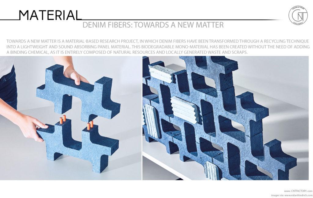 Denim Fibers Towards  New Matter