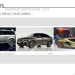 2019 Frankfurt Motor Show / Color and Trim Trends