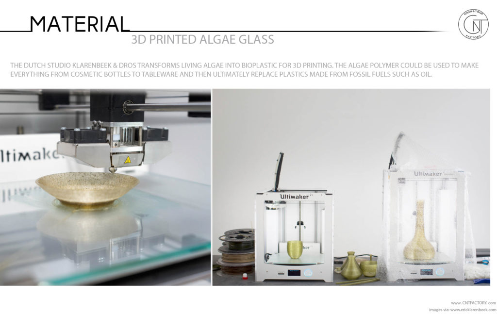 3D Printed Algae Glass