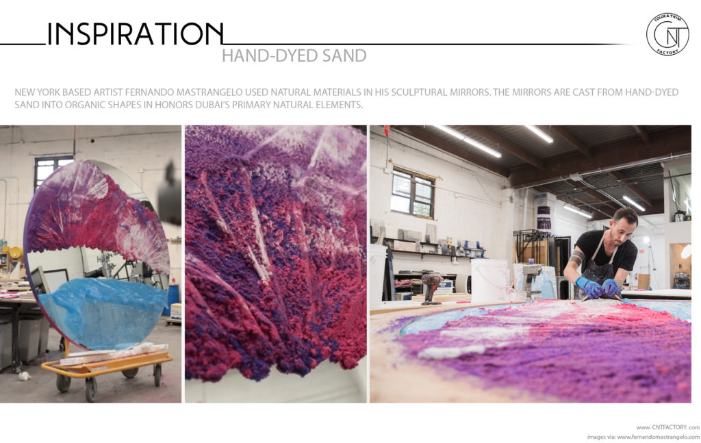 Hand Dyed Sand natural materials Automotive Color Trim Trends