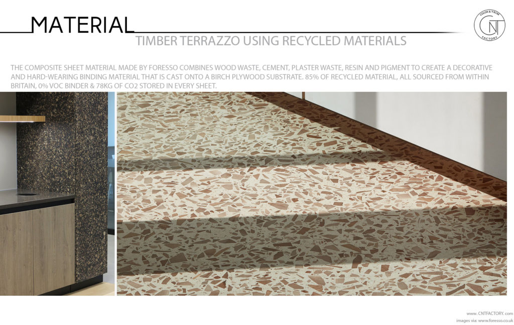 Timber Terrazzo Using Recycled Materials Automotive Color Trim