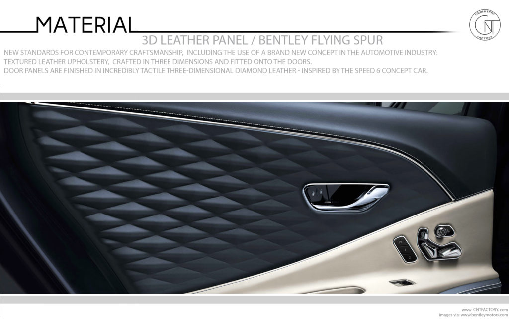 3D Leather Panel Bentley Flying Spur