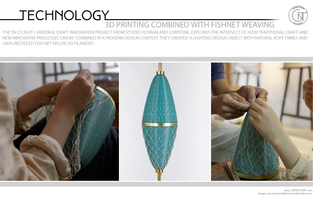 3D Printing Combined With Fishnet Weaving