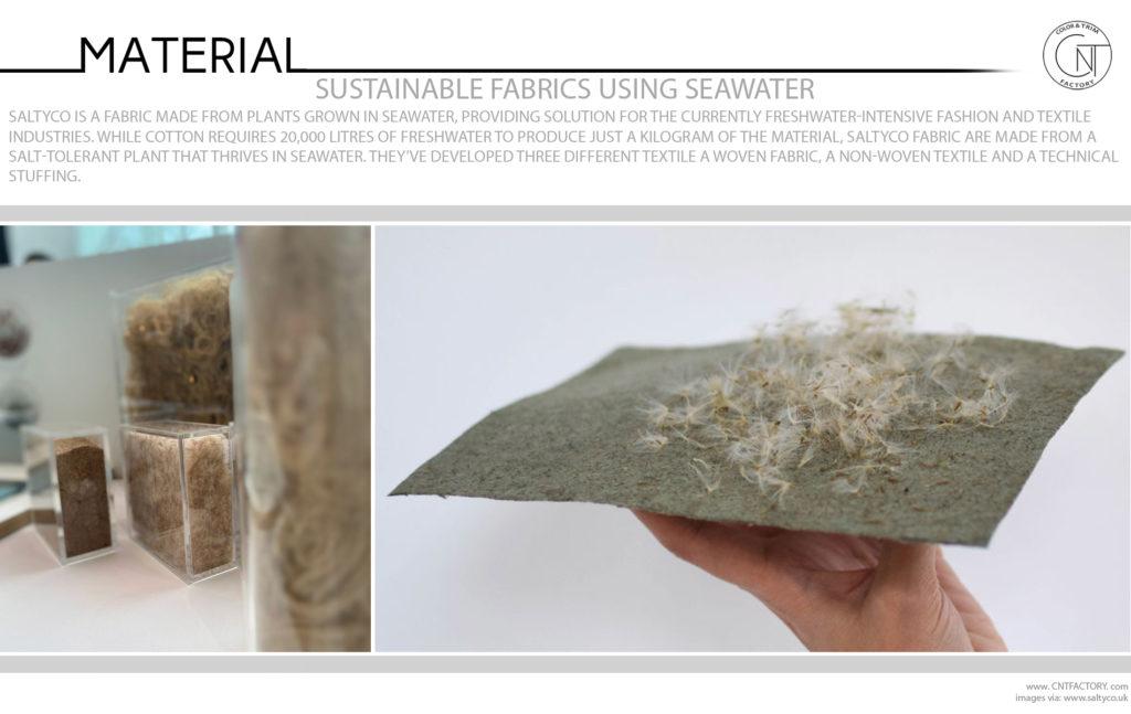 Sustainable Fabrics Using Seawater