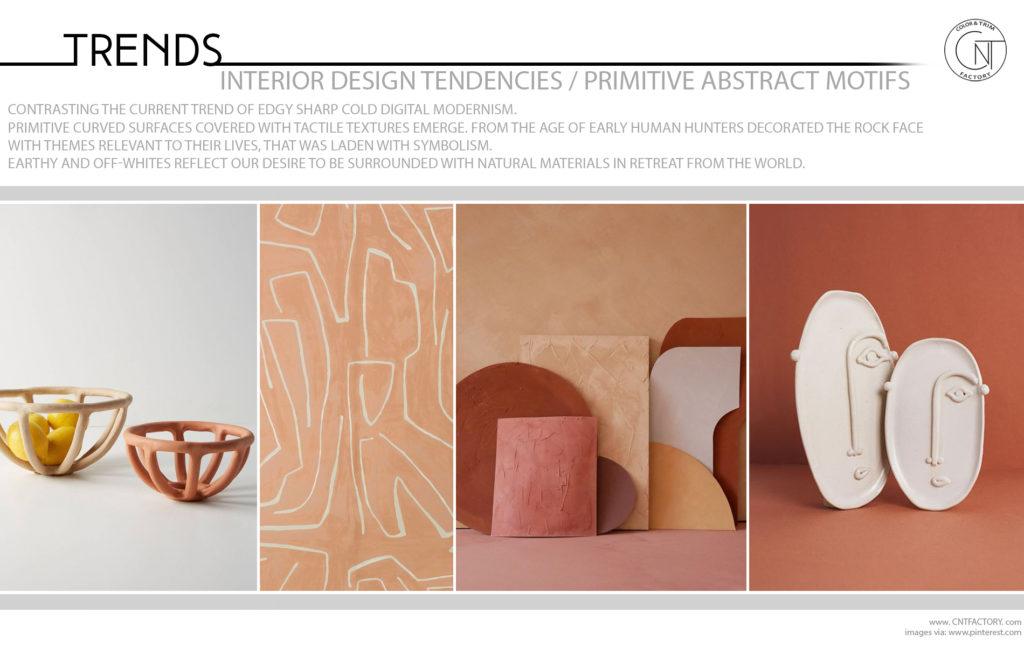 Interior Design Tendencies Primitive Abstract Motifs