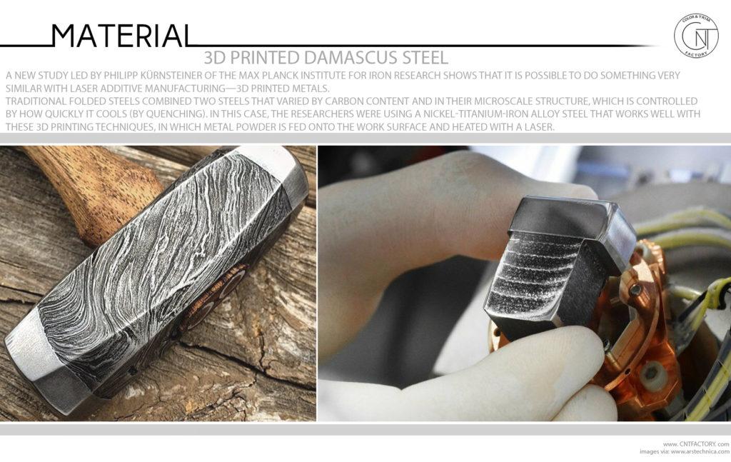 3D Printed Damascus Steel Mokume Gane