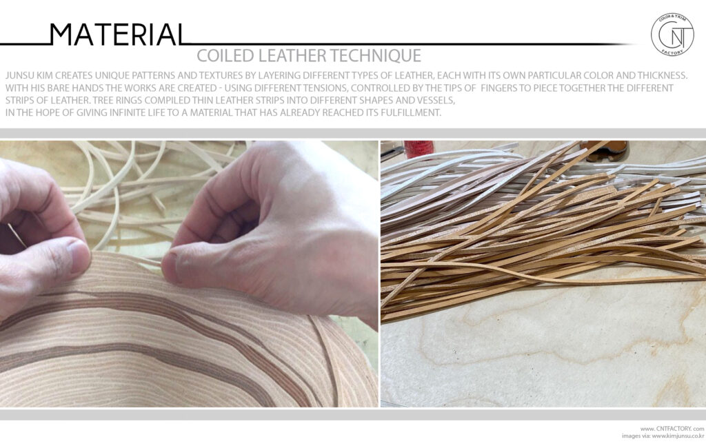Coiled Leather Technique