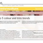 Top 5 Color and Trim Trends for Interior Motives - Summer 2020