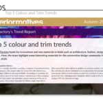 Top 5 Color and Trim Trends for Interior Motives - Autumn 2020