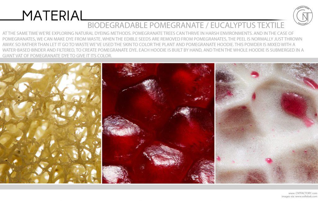 Biodegradable Pomegranate Eucalyptus Textile