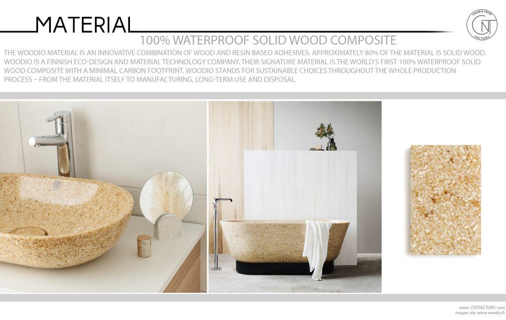 100% Waterproof Solid Wood Composite
