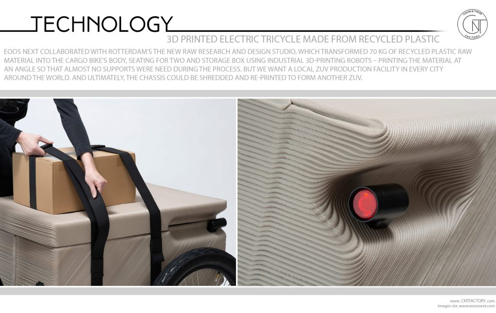 3D Printed Electric Tricycle Made From Recycled Plastic Waste
